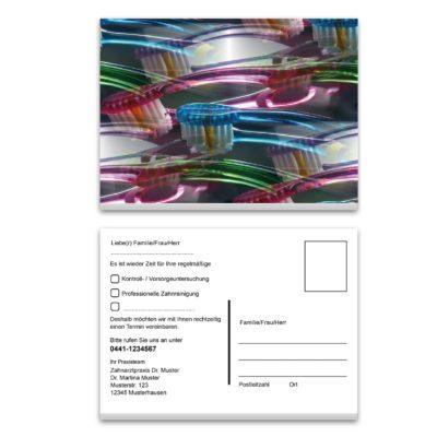 recallkarte zahnbuersten illustration