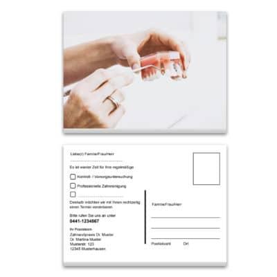 recallkarte weiße zaehne