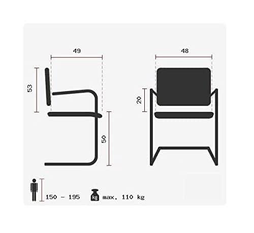 besucherstuhl visiter cl110 kunst leder schwarz ergonomischer freischwinger sessel zum arbeiten. Black Bedroom Furniture Sets. Home Design Ideas