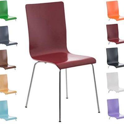 CLP Wartezimmer Stuhl PEPE Holzsitz ergonomisch geformt robust pflegeleicht 0