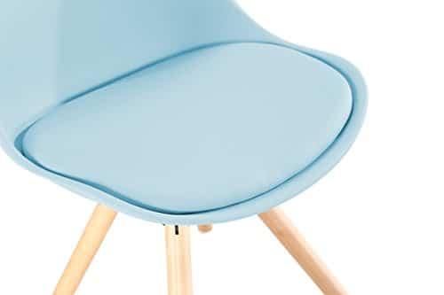 OYE HOYE Retro Designer Stuhl Esszimmersthle Wohnzimmersthl mit bequem Gepolstertem Sitz aus Hochwertigem Strapazierfhigem Kunststoff und Buchenholz 0 0