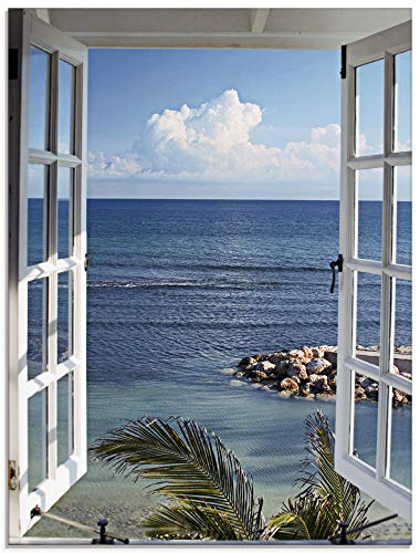 Artland Katja Sucker Fenster zum Paradies Glasbild 0 2