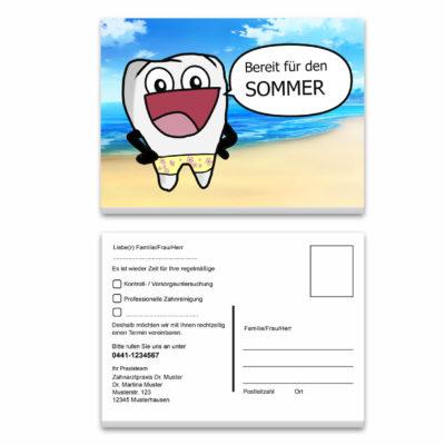 Recallkarte comic zahn